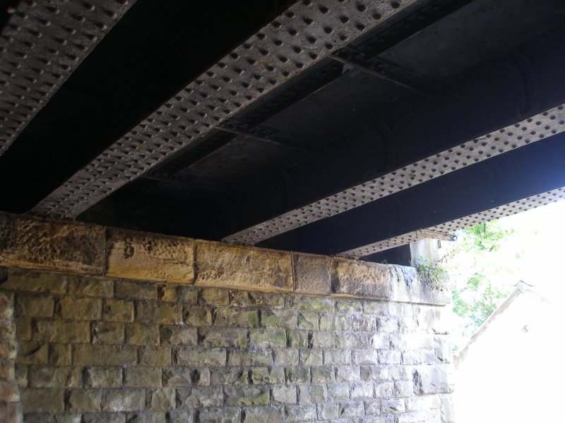 Anchor Pit underline bridge showing girder detail