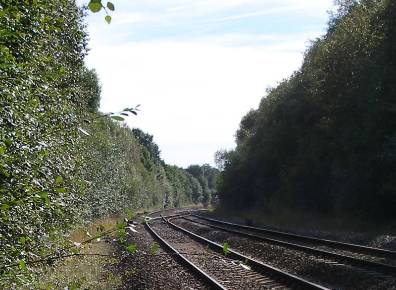 Bradley Wood Junction, Calder Valley Main Line as seen on 11 September 2016