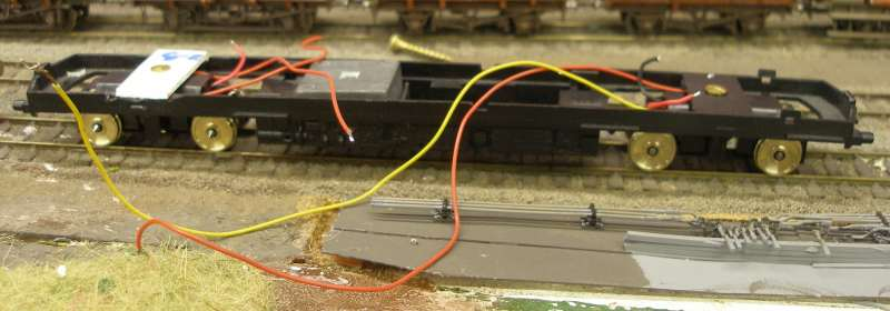 Hornby Class 110 DMU re-motoring project: new chassis with both Black Beetles fitted, and wiring runs in place