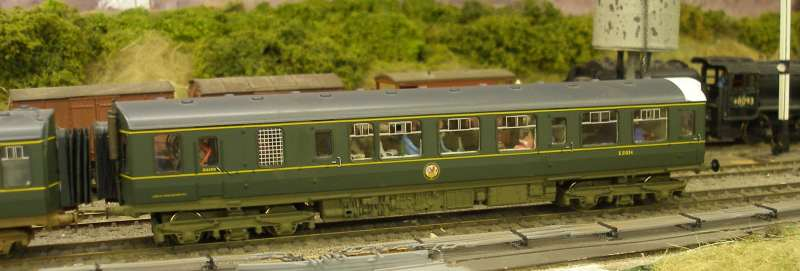 Hornby Class 110 DMU re-motoring project: completed model out on trial runs seen passing Hall Royd Junction in the Manchester direction
