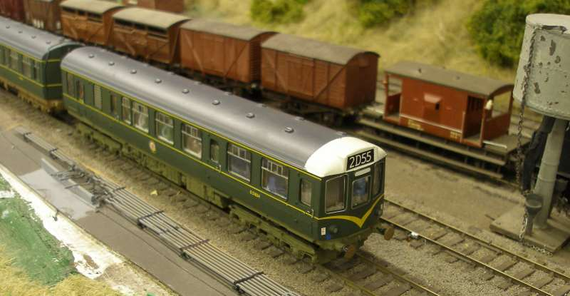 Hornby Class 110 DMU re-motoring project: completed model with original Hornby buffers fitted