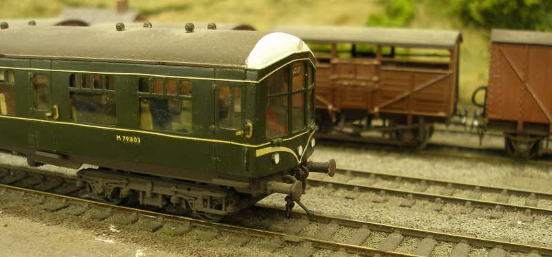Hornby Class 110 DMU re-motoring project: the front of a DC Kits Derby Lightweight to illustrate the buffer castings.
