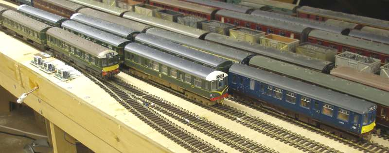 Hall Royd Junction's Class 110 fleet sitting in the storage sidings