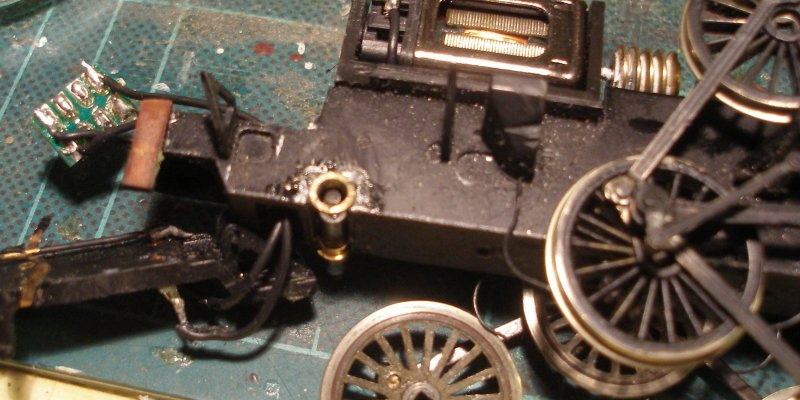 Fitting Romford driving wheels to a Bachmann 4mm OO scale Crab 2-6-0