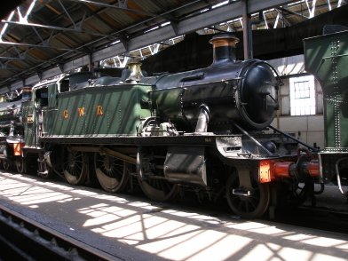 GWR Large Praire tank 6106 inside the running shed at Didcot Railway Cebtre 6 Mat 2013