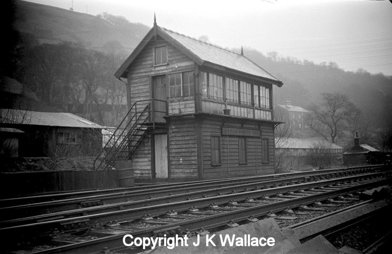 Dover Bridge signal box on the LYR Calder Valley in the early 1960s