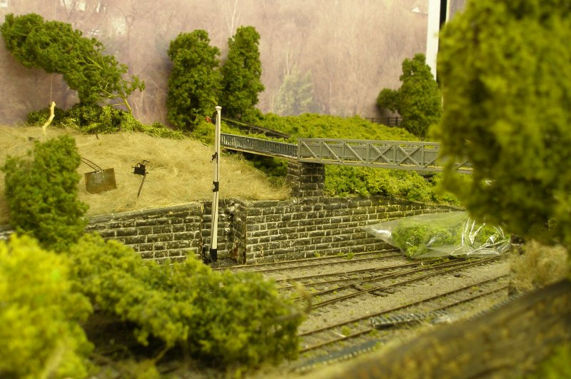 Hall Royd Junction (the model) showing the vegetation around bridge 109