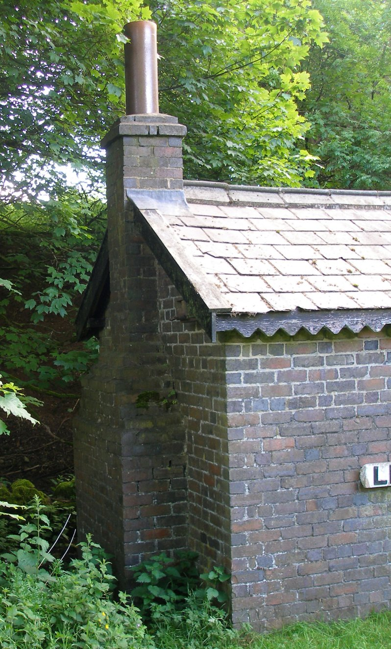 L&NWR Hartington Permanent Way Hut 10 July 2014 Side elevation (east) showing chimney detail