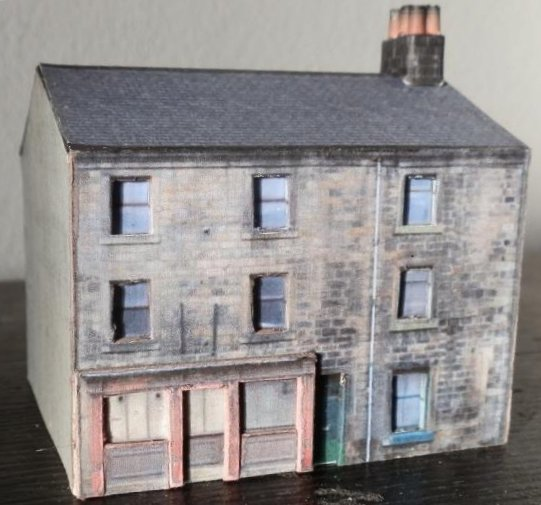 image about Ho Scale Buildings Free Printable Plans named Totally free downloadable PDF design and style railway retailer property creating