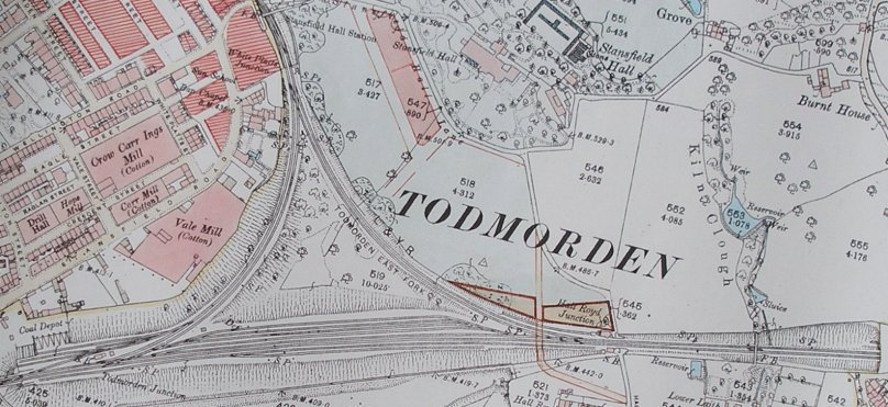An extract from the 1894 OS 1:2500 scal map