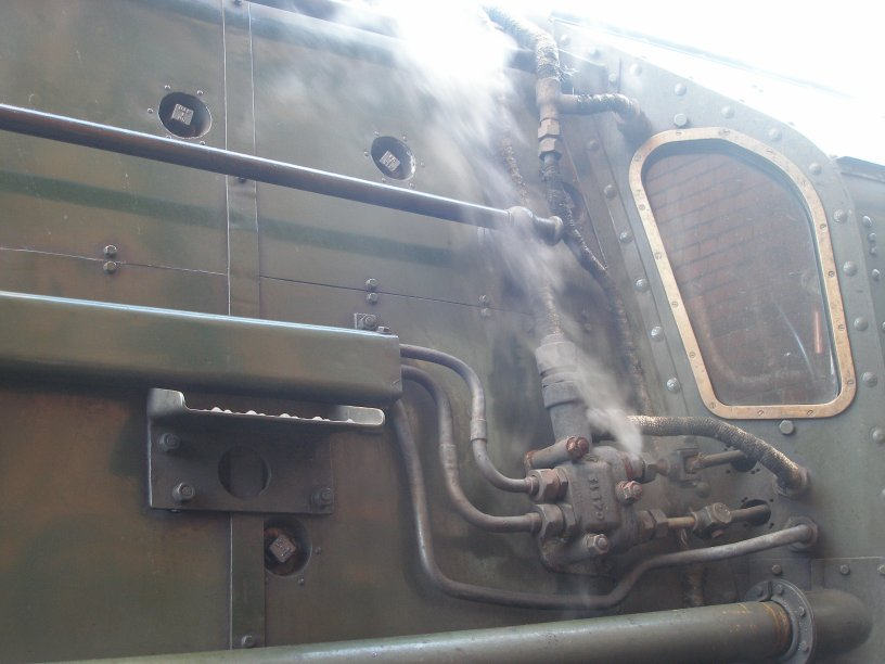 Detail shot of 70014 'Oliver Cromwell' cab front, drivers side