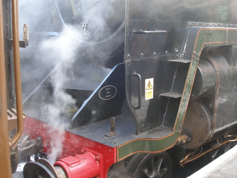 Detail shot of 70014 'Oliver Cromwell' front footplating