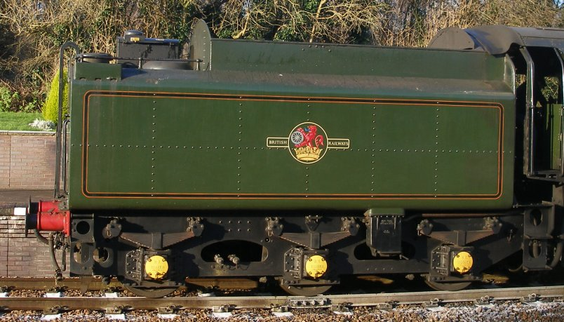 Detail shot of 70014 'Oliver Cromwell' tender side view