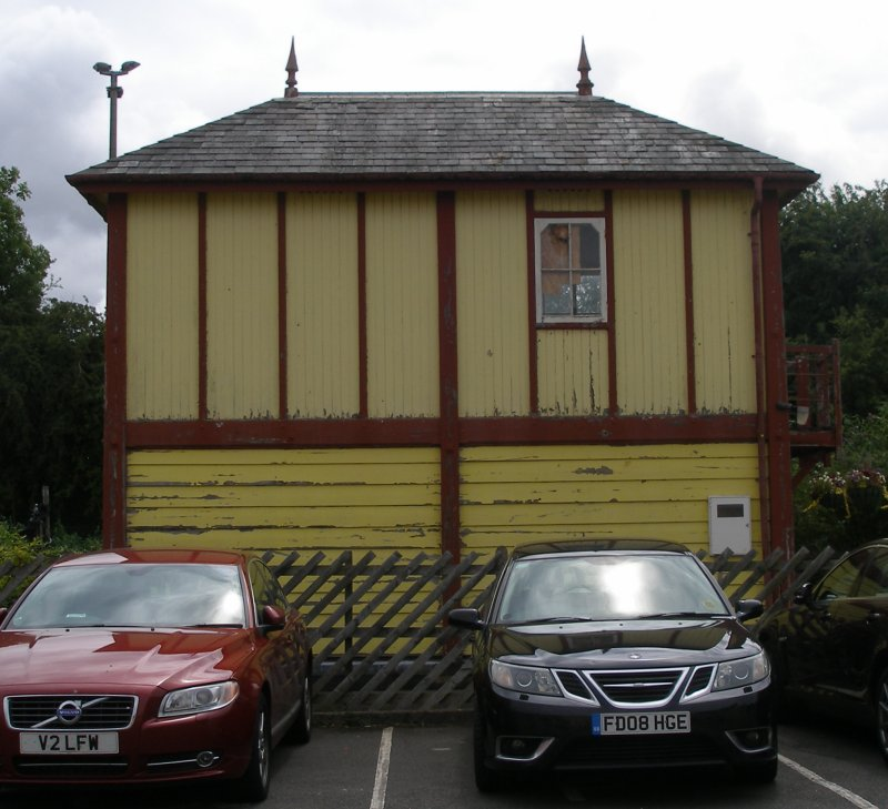 Stamford Signal Box, rear view, June 2015