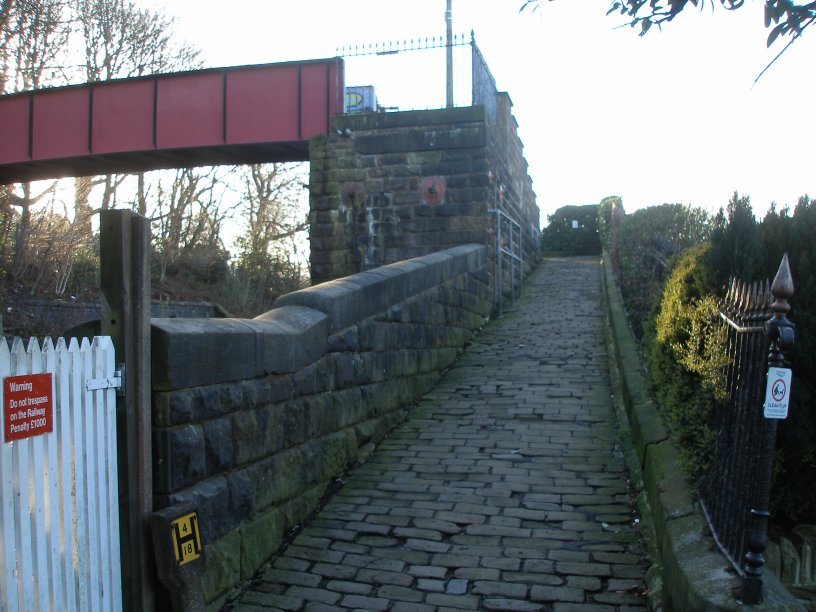 Stansfield Hall footbridge, Todmorden