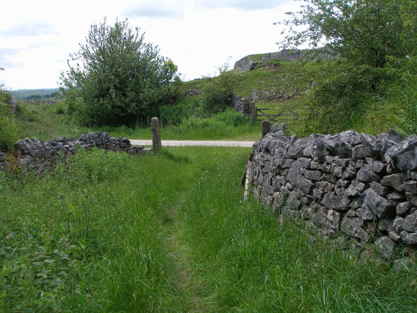 Occupation Crossing and approach cutting on the Tissington Trail